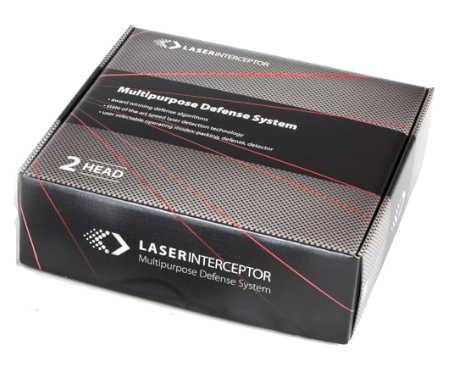 Balení laserové rušičky laser interceptor